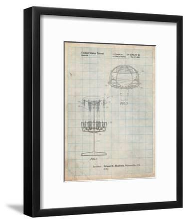 375x450 Disc Golf Basket Patent Art Print