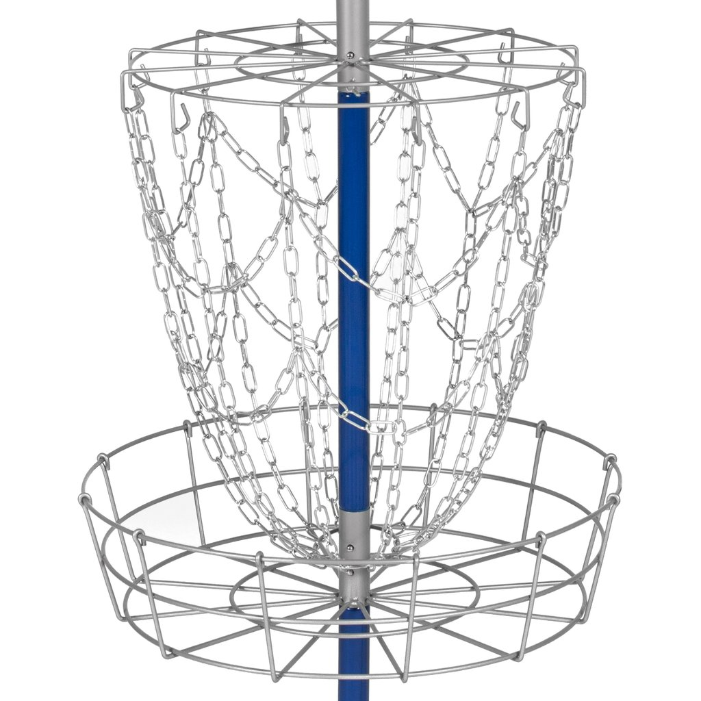 1024x1024 Portable Disc Golf Basket Double Chains Steel Frisbee Hole Best