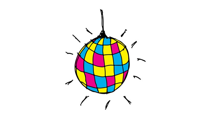 852x480 Kids Drawing White Screen With Theme Of Disco Ball Lamp