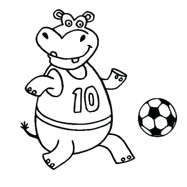 600x600 Coloring Pages Of Soccer Balls Soccer Ball Outline For Kids