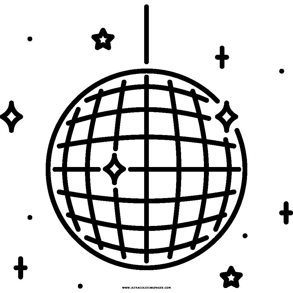 1000x1000 Disco Ball Coloring