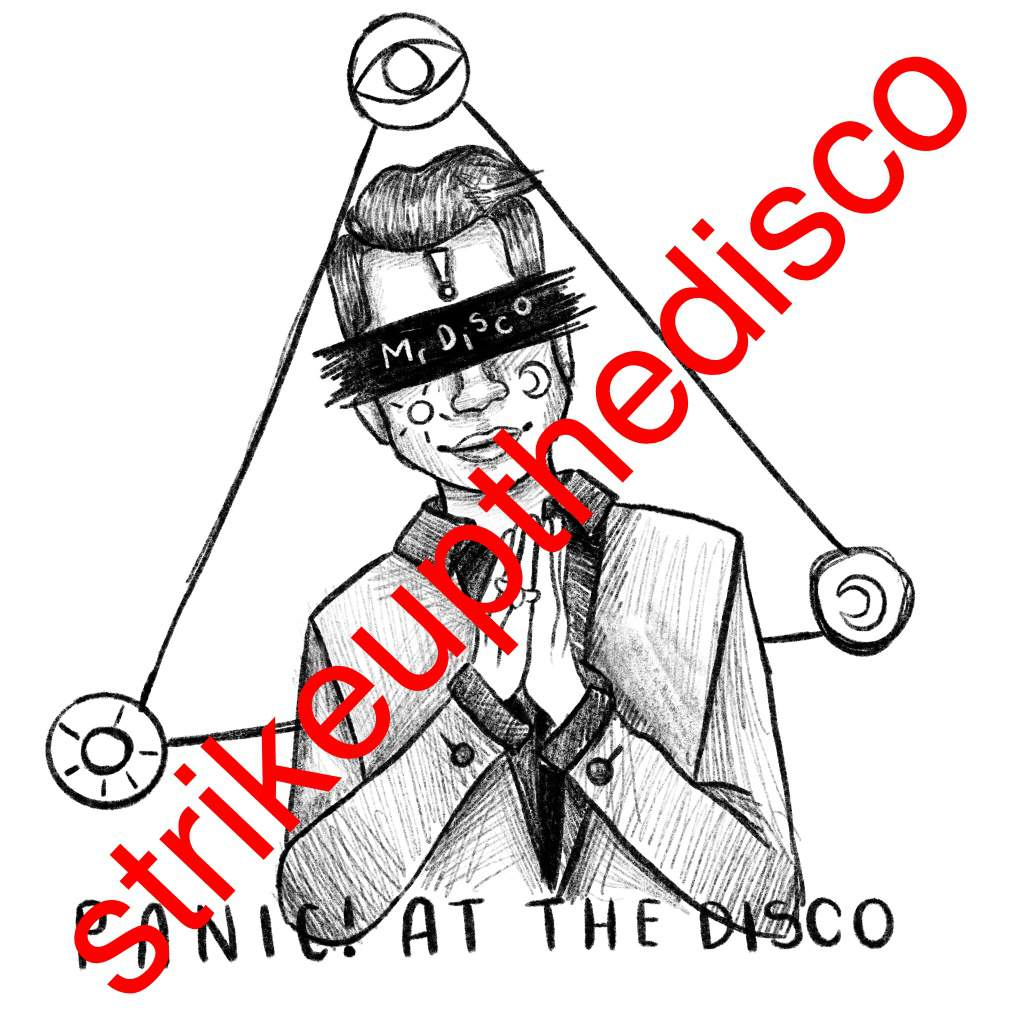 1024x1024 Mr Disco Logo Inspired Drawing Panic! At The Disco Amino