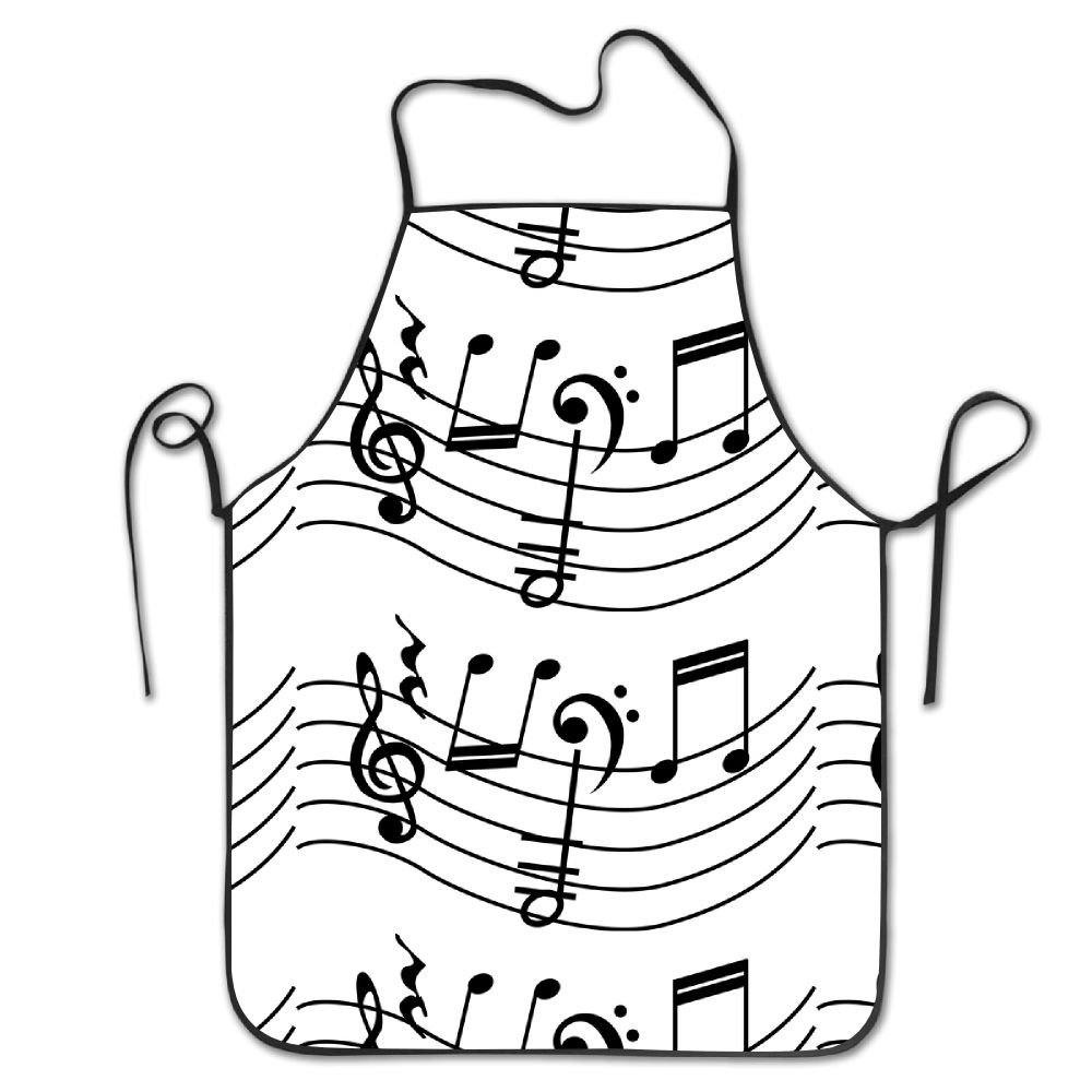1000x1000 Novelty Discovery Wild Music Notes Unisex Kitchen Chef