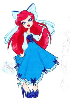 Disney Ariel Drawing
