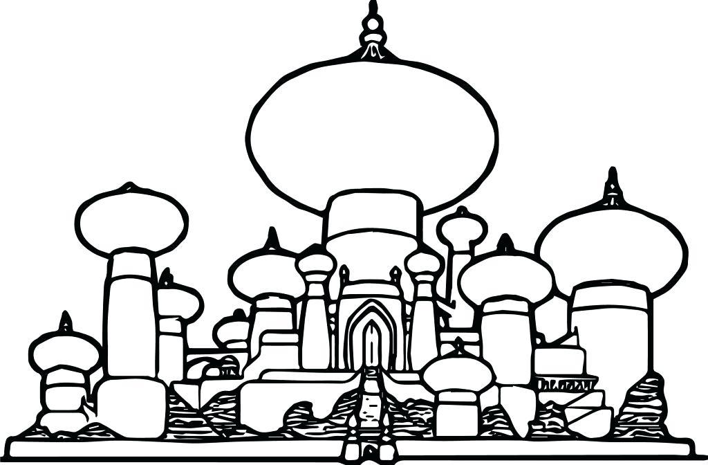 1024x672 Disney Castle Coloring
