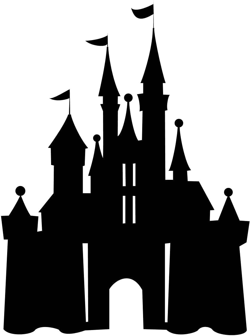 837x1125 Disney Castle Drawing Step Disneyland Clipart