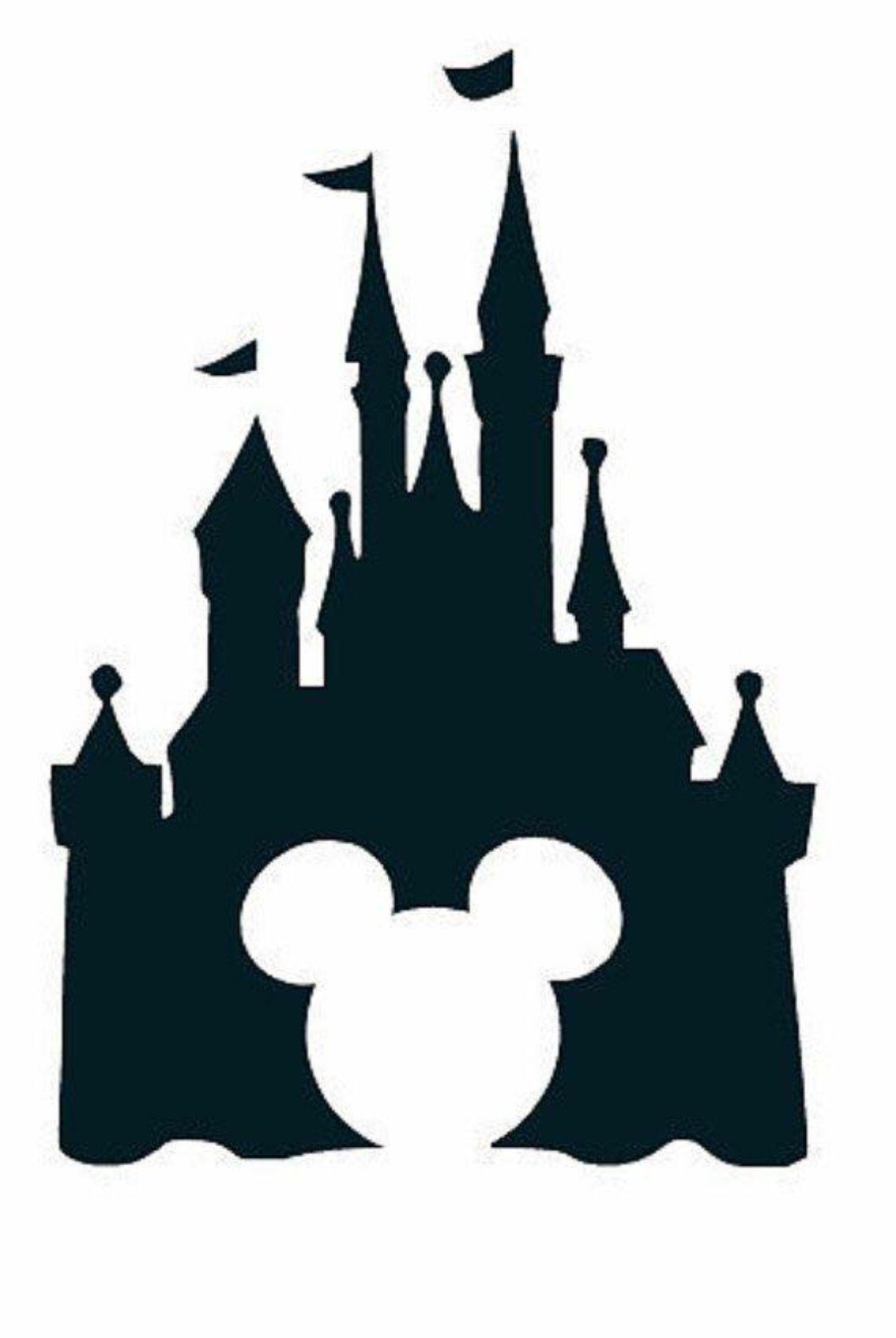 1125x1680 Mickey Disney Castle Cricutpaper Crafts Disney Silhouettes