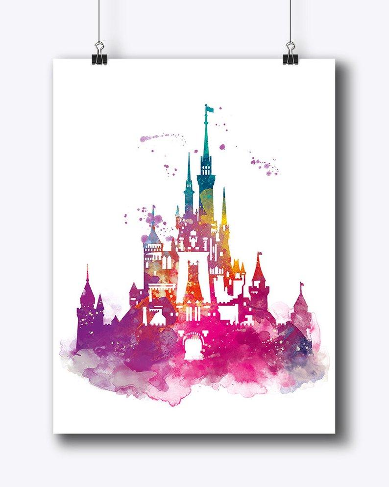 794x993 Cinderella Castle Watercolor Print Magic Kingdom Disney Art Etsy
