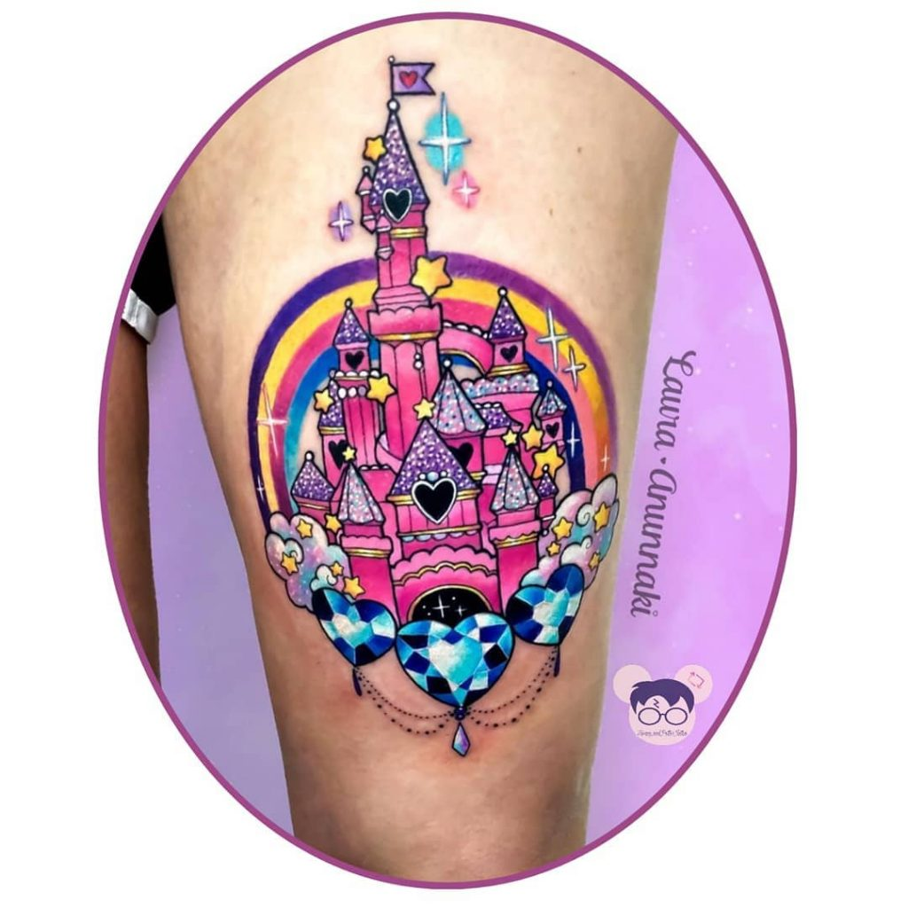 1024x1024 Disney Castle Tattoos