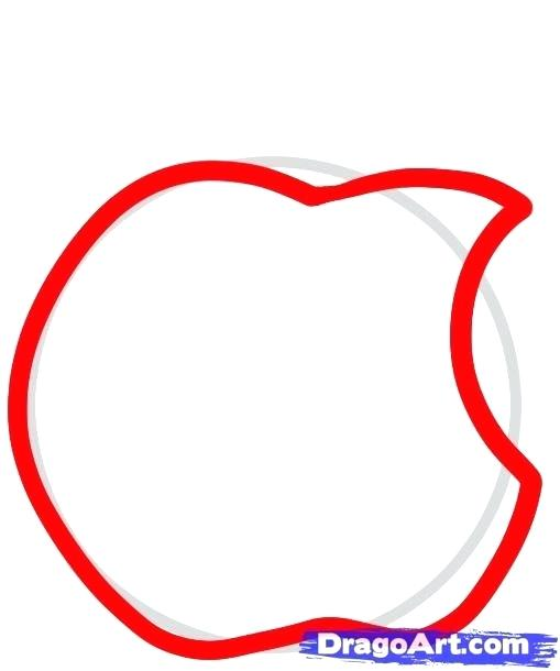 509x610 How To Draw Apple How To Draw An Apple Step Drawing Apple Step
