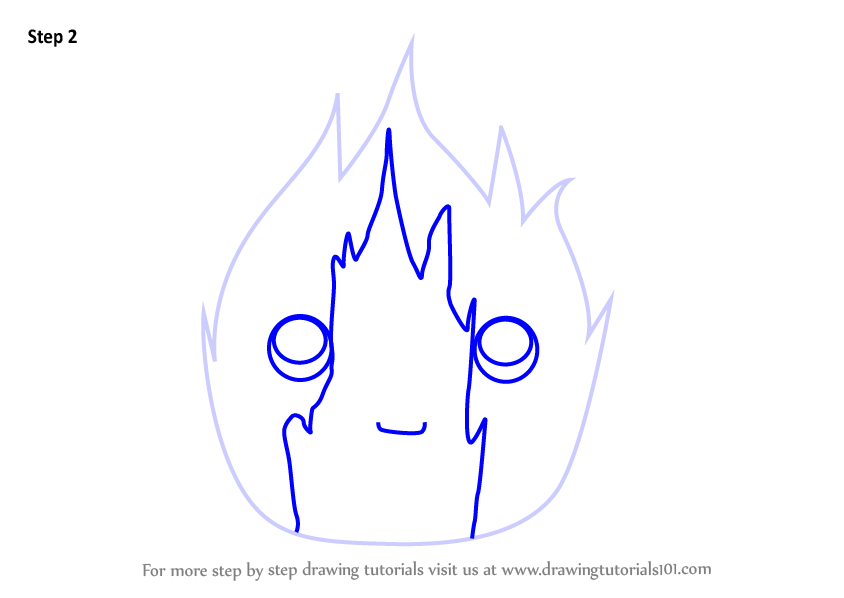 844x598 Learn How To Draw Kawaii Calcifer From Howl's Moving Castle