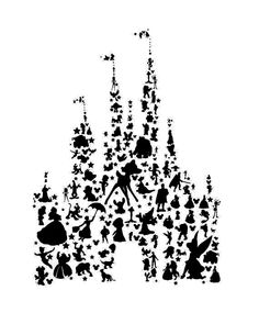 Disney Castle Line Drawing