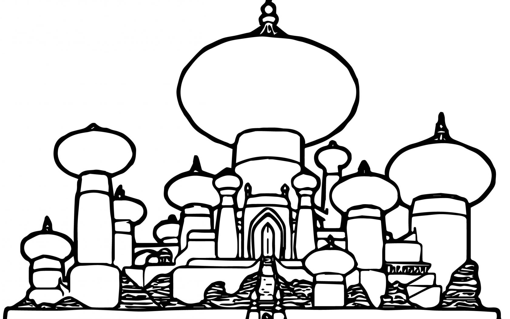 1680x1050 Disney Castle Coloring Pages Beautiful Silhouette Kido Princess