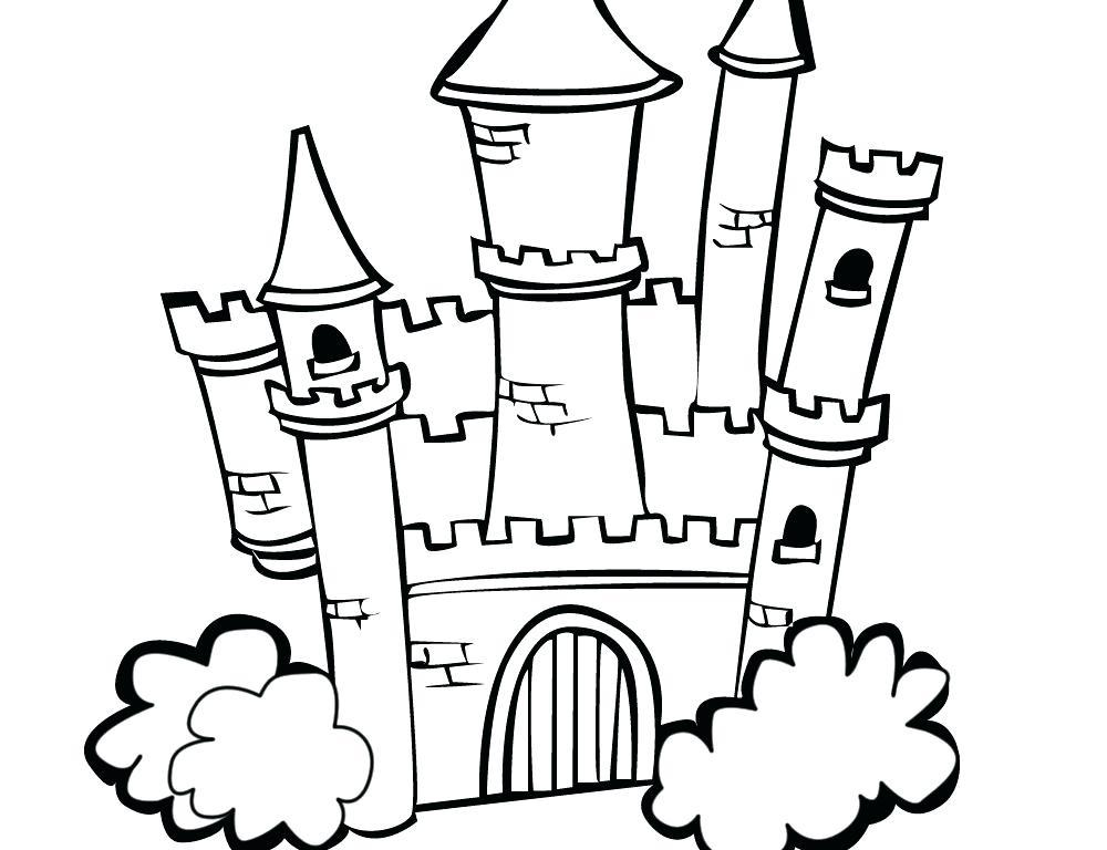 1000x768 Disney Castle Line Drawing At Getdrawingscom Free For Personal