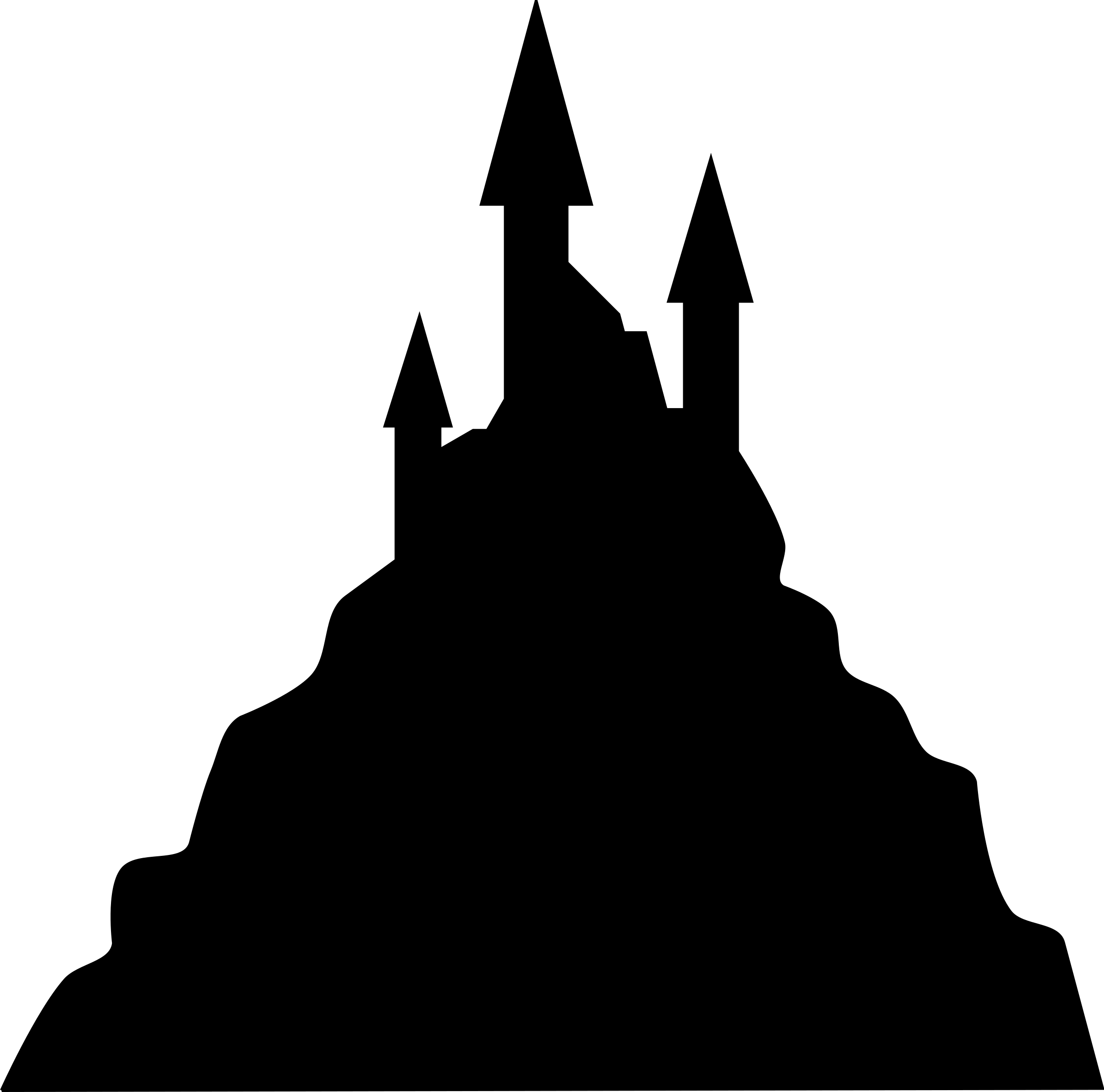 2427x2400 Huge Collection Of 'cinderella Castle Silhouette Clip Art