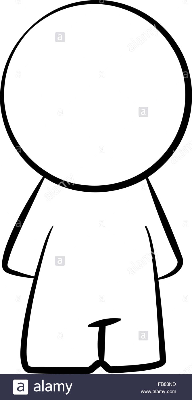 668x1390 Line Drawing Of A Simple Cartoon Person