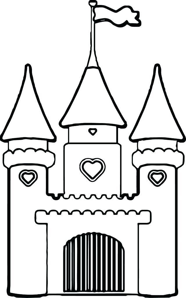 640x1024 Disney Castle Coloring