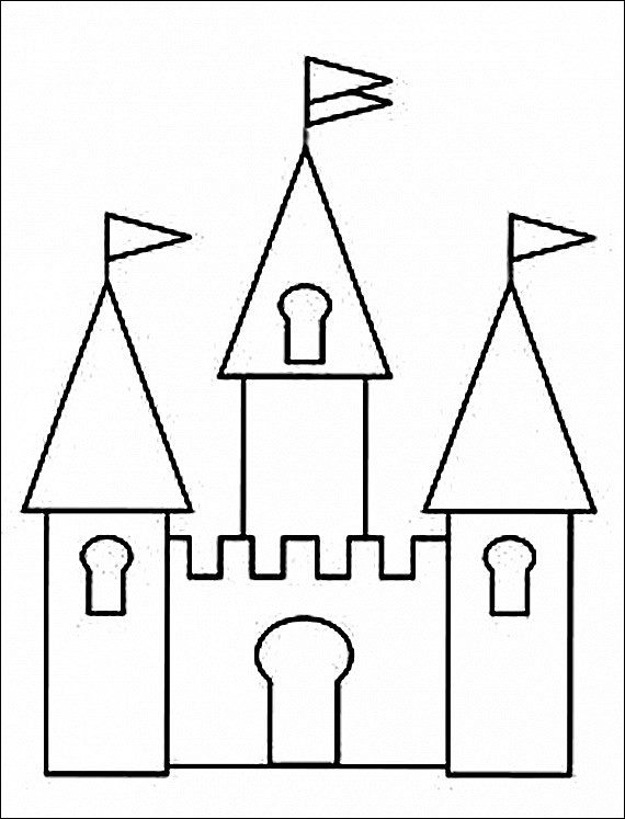570x747 Disney Princess Castle Coloring Pages Free Coloring Sheets
