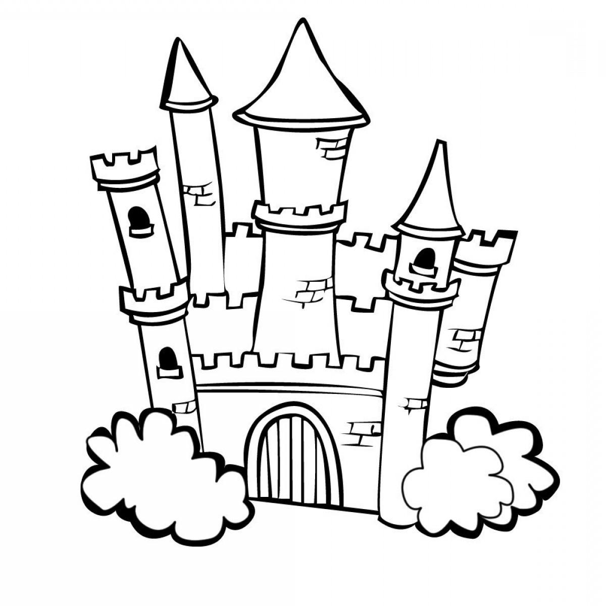 1200x1200 Princess Castle Coloring Pages Mysyria