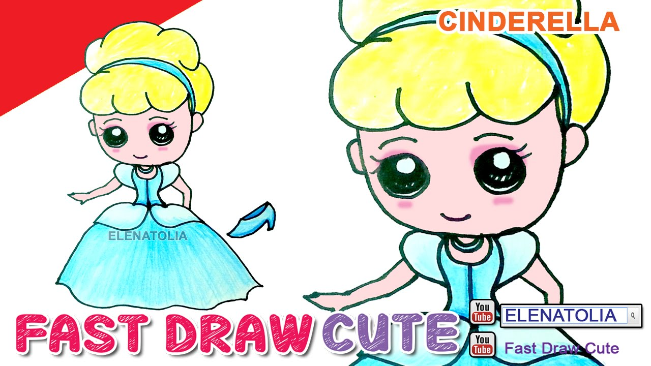 1280x720 How To Draw Cinderella Step