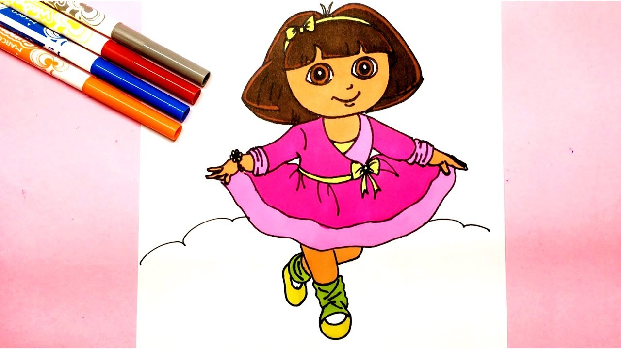 1280x720 How To Draw Dora The Explorer