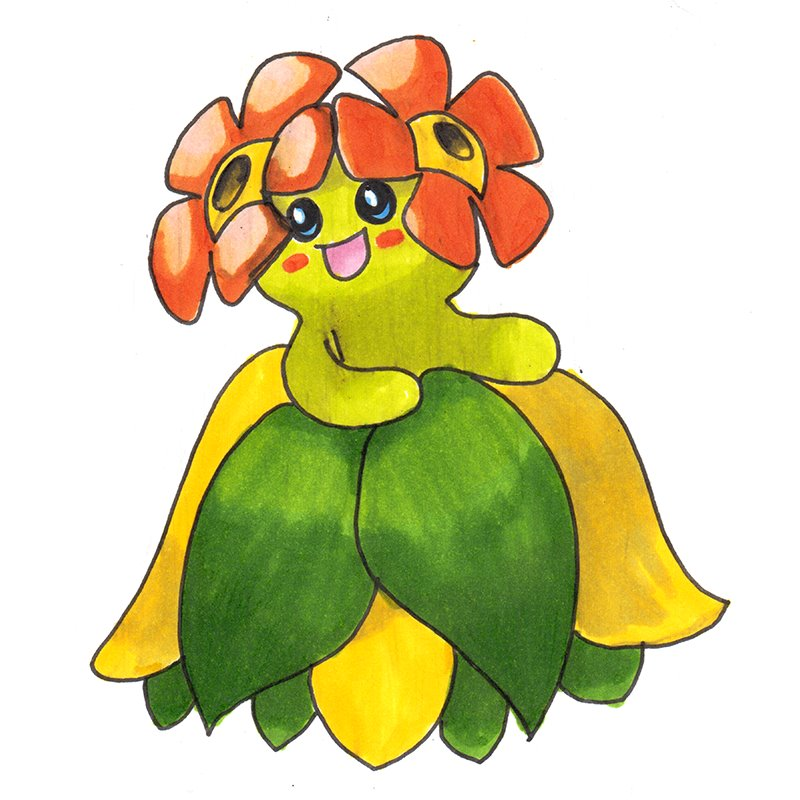 800x800 Bellossom Pokemon Pencil Drawing