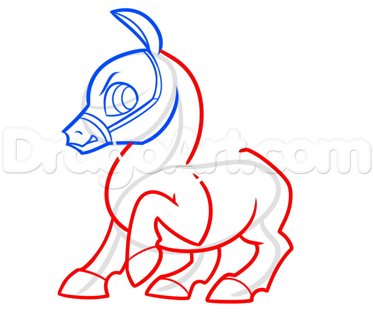1200x1011 Draw Maximus From Tangled Chibi Style, Step