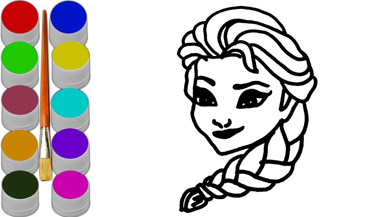 1280x720 Learn And Teach Colours For Kids With Cartoon Tangled Rapunzel