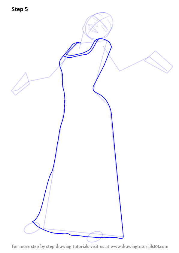 596x843 Learn How To Draw Mother Gothel From Tangled