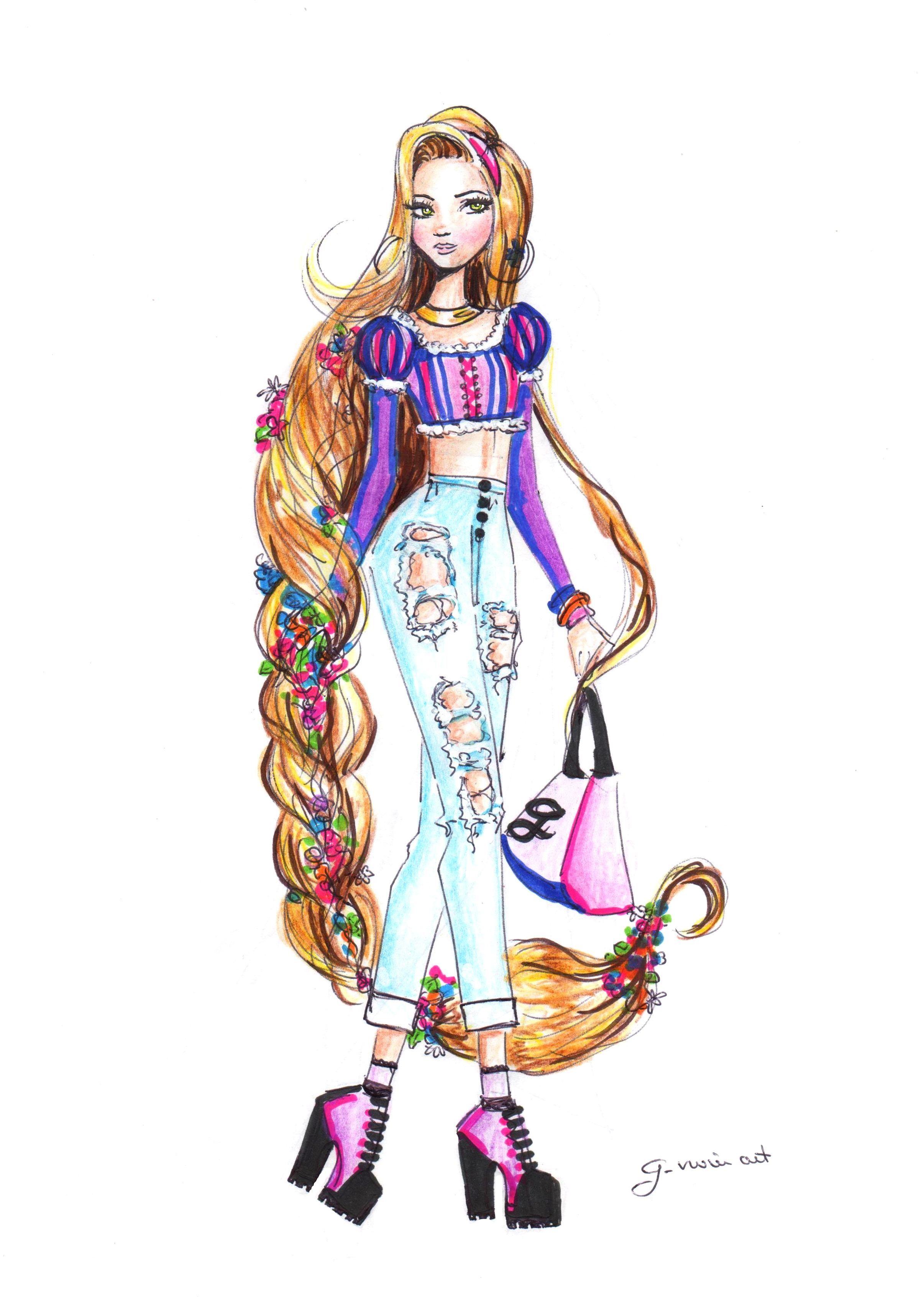 2411x3392 Rapunzel