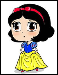 200x256 how to draw disney's snow white and the seven dwarf cartoon