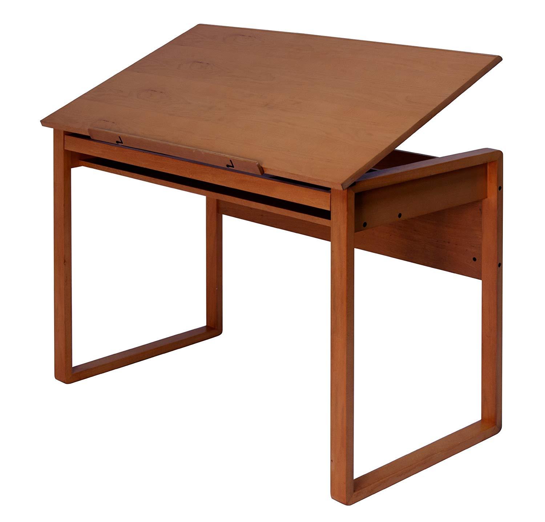 1500x1435 Ponderosa Drafting Table Workspace Desk Adjustable Wood Architect
