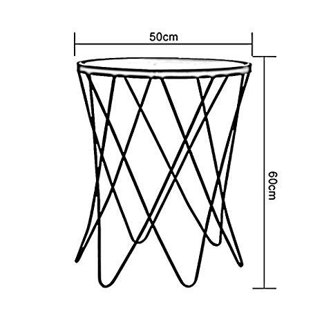 466x466 Folding Table Chunlan Metal Coffee Table Tempered