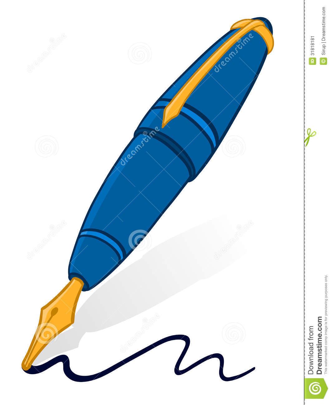 1065x1300 fountain pen clipart doodle illustration classic gold metallic nib