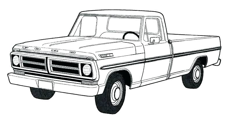 Dodge Ram Drawing | Free download on ClipArtMag