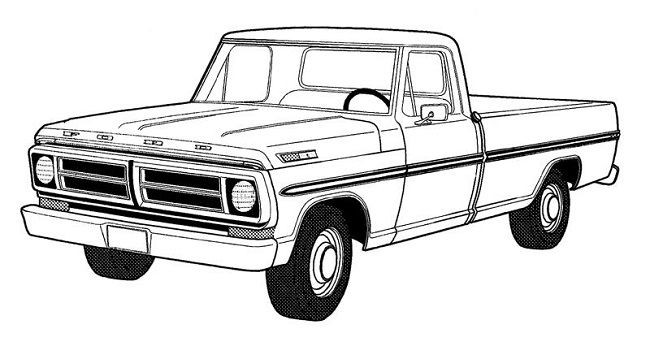 650x346 pickup truck coloring pages art truck coloring pages, pickup