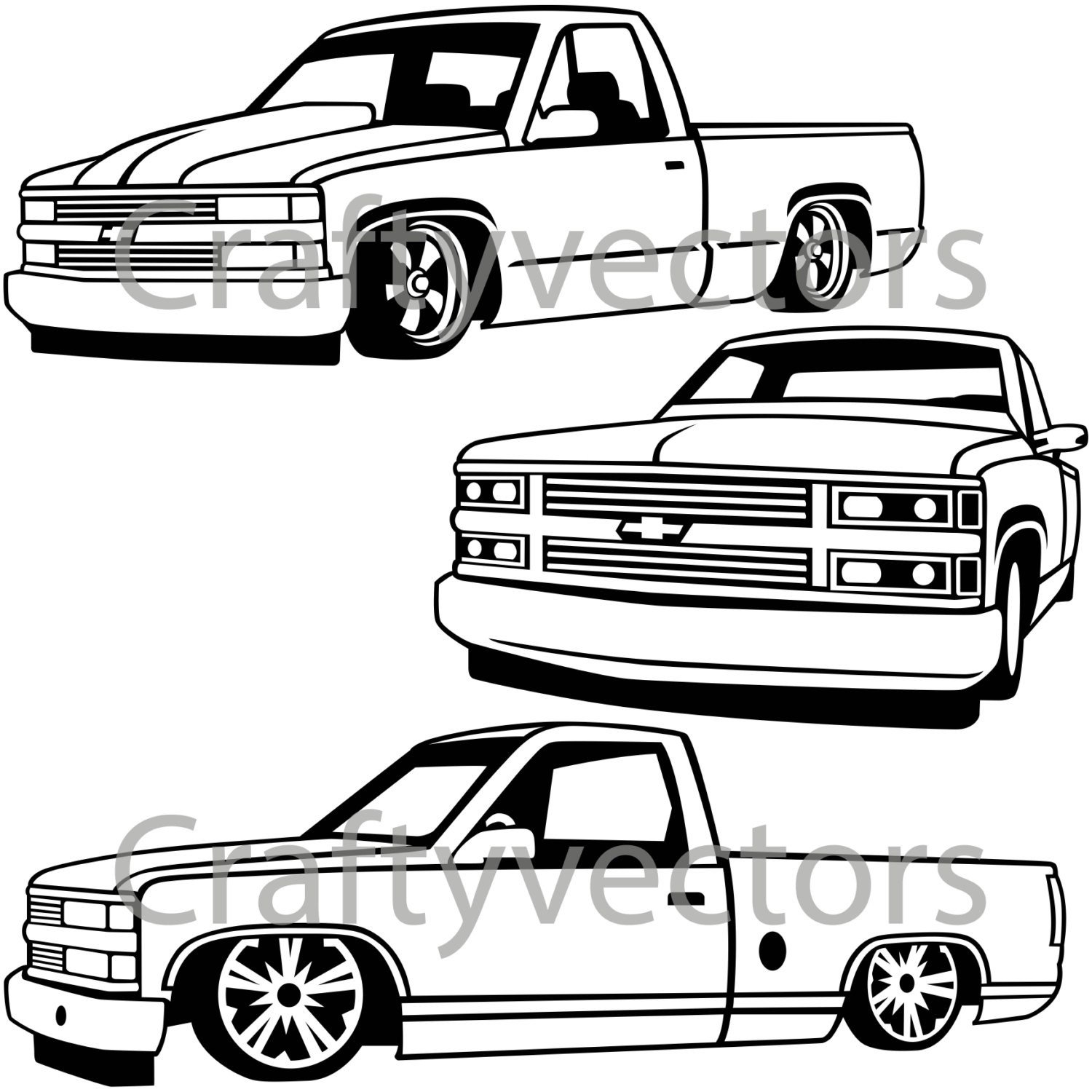 Dodge Truck Drawing | Free download best Dodge Truck Drawing on