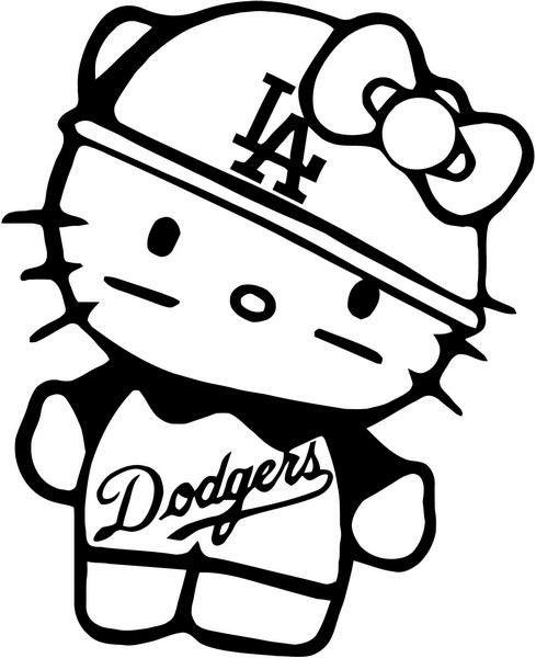 489x600 hello kitty thug hello kitty dodgers baseball, hello kitty