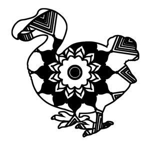 300x300 dodo bird mandala animal t shirt digital clipart mandala