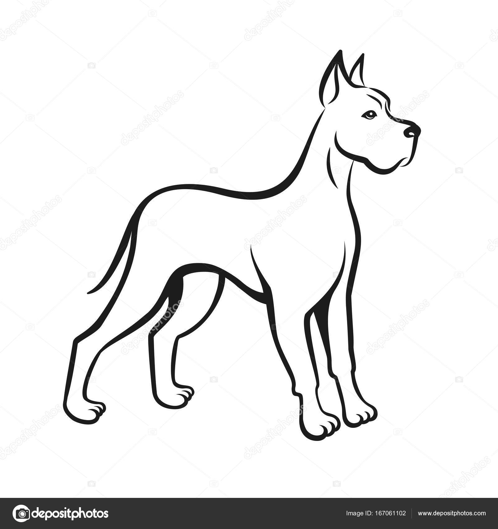 1600x1700 Outline Drawing Dog For Free Download