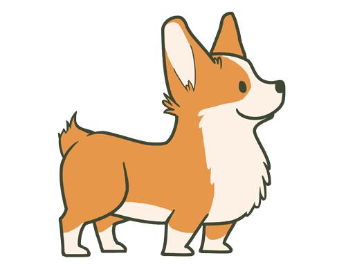 500x386 How To Draw A Corgi Step Step Easy Drawing A Corgi Puppy Dog Corgi