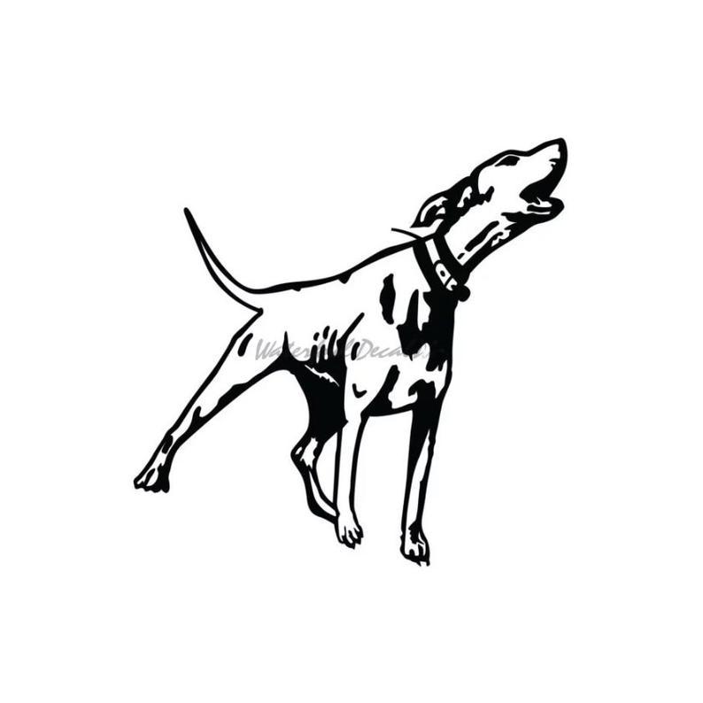 794x794 hound dog barking decal hound barking sticker etsy