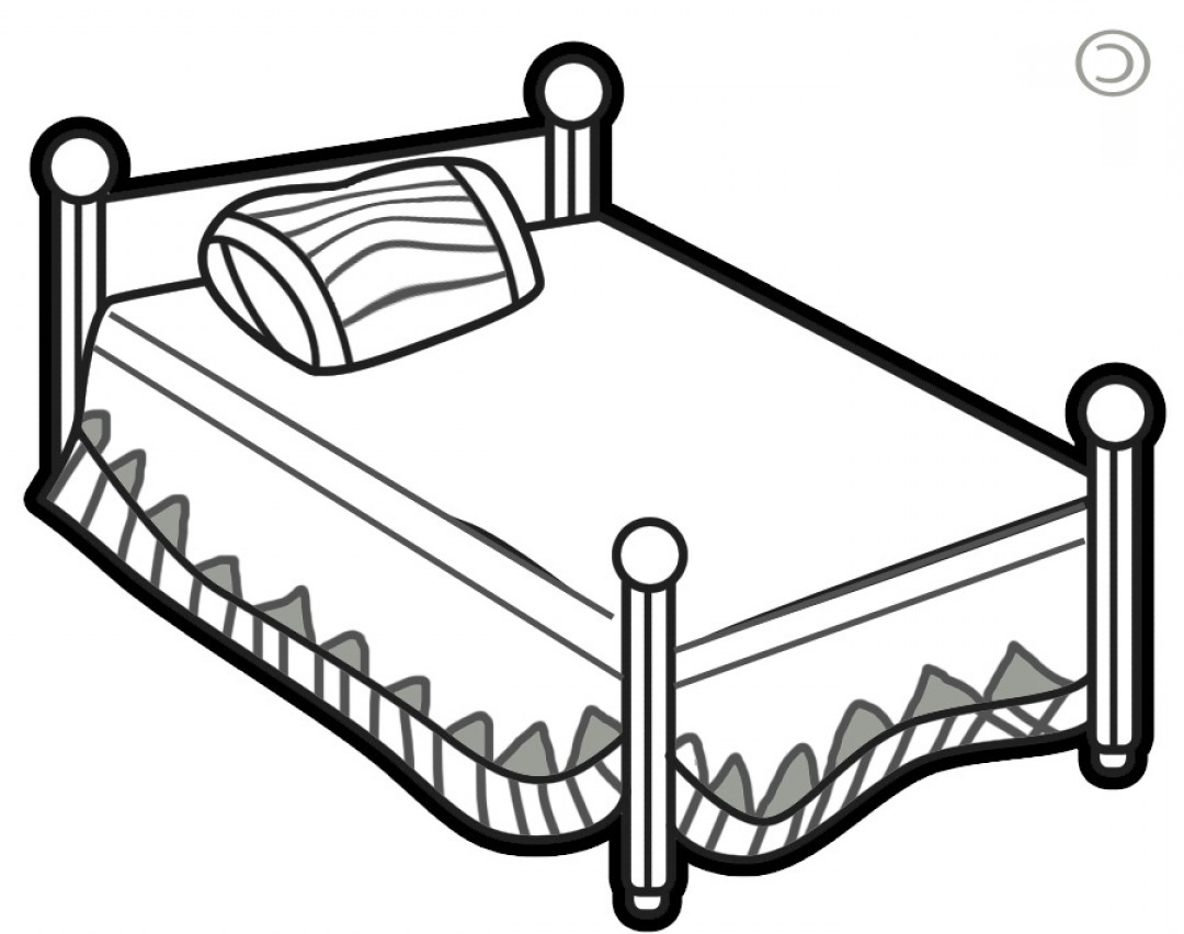 1080x852 bed black and white clipart dog bed clip art layout top bed