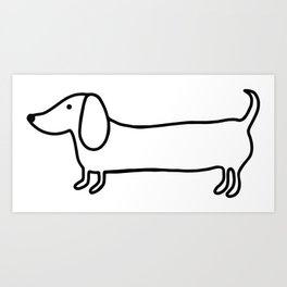 264x264 Dog Sketch Art Prints
