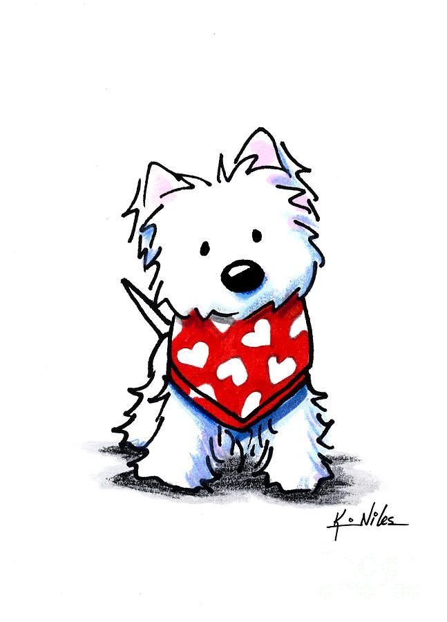 647x900 Valentine Westie Drawing