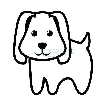 450x450 dog outline dog outline dog little pet domestic outline vector