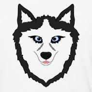 190x190 Drawing Husky Dog Face With Blue Eyes Gift Idea Unisex Baseball T