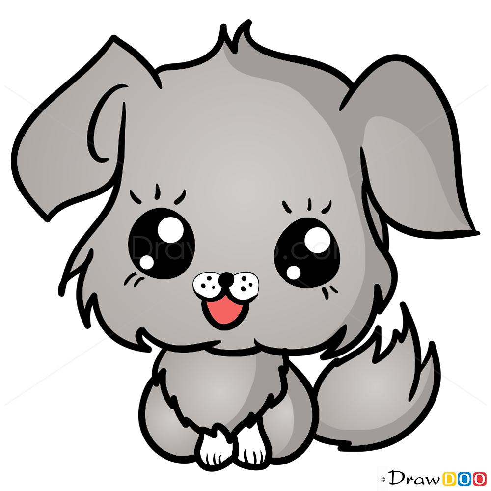 1000x1000 How To Draw Dog, Chibi