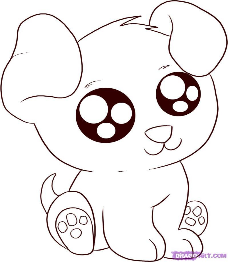 798x914 How To Draw An Anime Cartoon Puppy, Step