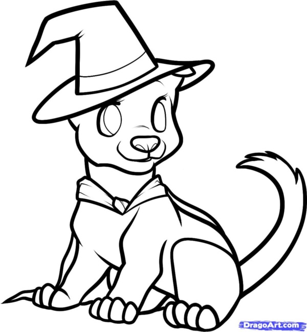 600x649 Simple Dog Drawing To Follow And Practice